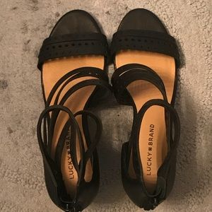 New Lucky Brand Women's 9 Black Jaleela Sandals
